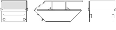 Бункер ТБО (лодочка) для мусора: