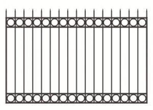 Забор из профильной трубы №1